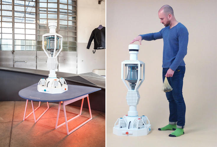 designer creates appliance which turns dog poop into batteries