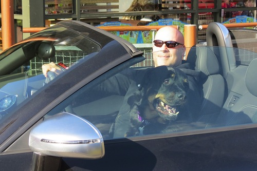 Riding in style at the McD's drive-thru