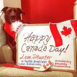 Hunter sends his Canada Day love!