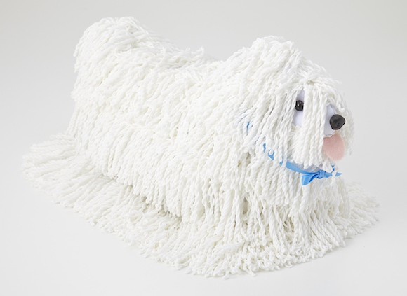 The cute mop comes in three cute varieties, to suit your decor and your taste in pups.