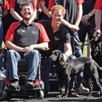 Prince Harry and service dog and veteran