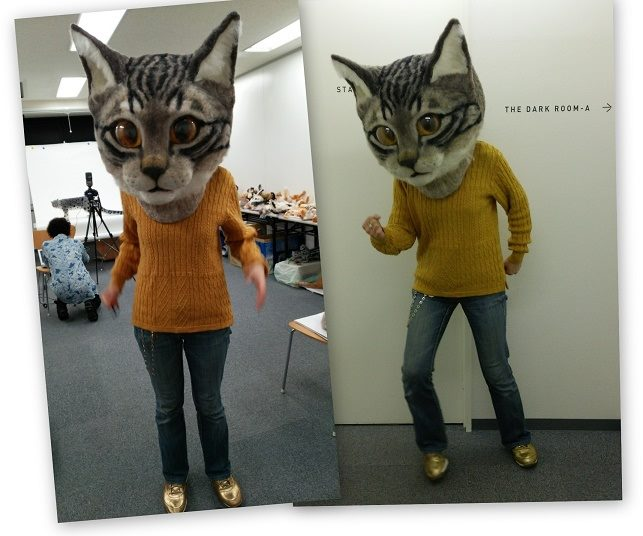 & Creepy And Giant Realistic Cat Head Makes Noise On The Internet