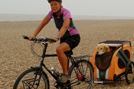 Gran and her dog riding 5000 miles around Britain's coastline