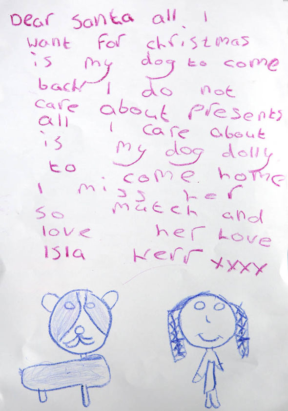 Little girls heart wrenching letter to santa only wishes for her read more how a stranger helped reunite a stolen dog with his family will warm your heart spiritdancerdesigns Choice Image