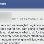 Facebook post to save dog