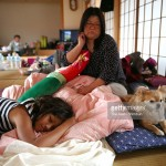 Japan earthquake survivor with dog
