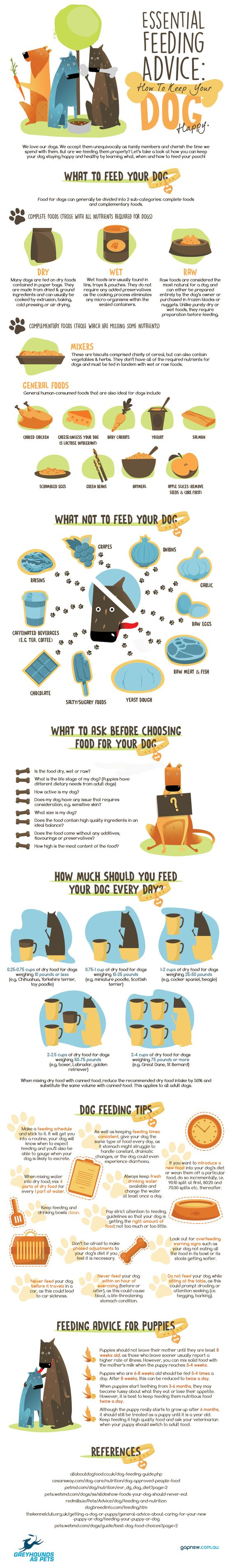 Essential Feeding Advice How To Keep Your Dog Happy-Infographic